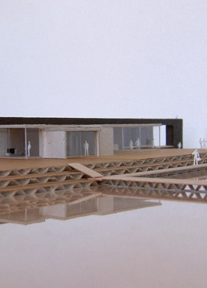 A collaboration with Thomas Boerendonk and Emiel Tijhuis for the architecture competition of the Bosch Architectuur Initiatief. This building is a water sports pavillion for a recreational lake near Den Bosch, the Netherlands.