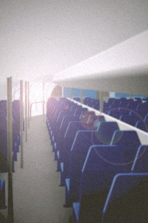 "For a dutch innovations fair (the ""Dag van Maarssen"") I was asked to make two animations. The passenger aircraft interior that I designed for my graduation was rendered into a virtual tour."