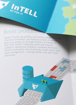 These are several illustration projects and graphic designs done for Fox-IT, a cyber security business, in Delft. Some very complex information and subjects, like data-streams and categorising processes, needed to be visualised and communicated through infographics and short texts. The playful theme, board game pawns [...]
